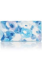 edit - Watercolour Floral Purse Blue and White
