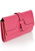 edit - Slip Tab Detail Purse Magenta