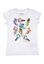 Converse - T-Shirt With Sneaker Print White