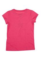Converse - T-Shirt With Converse Print Dark Pink