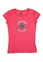 Converse - T-Shirt With Converse Print Dark Pink