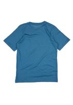 Converse - T-Shirt With Converse Shoe Print Mid Blue