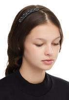 edit - Vintage Embellished Aliceband Black