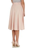 STYLE REPUBLIC - Flared Midi Skirt Pale Pink