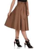 STYLE REPUBLIC - Flared Midi Skirt Camel