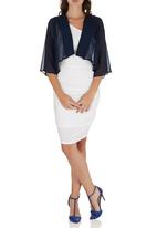 ELIGERE - Chiffon Cover-up Navy
