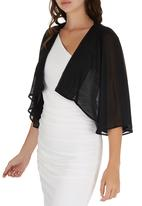 ELIGERE - Chiffon Cover-up Black