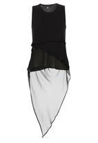 Gavin Rajah - Diagonal Layered Bias Camisole Black