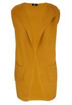 STYLE REPUBLIC - Sleeveless Waterfall Cardigan Yellow