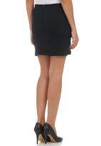 c(inch) - High-waisted Mini with Zip Detail Black