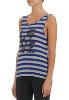 c(inch) - Tank with love print Mid Grey