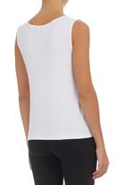 c(inch) - Tank with Love Print White