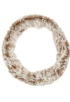 edit - Fancy Faux Fur Snood Mid Brown