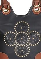 edit - Tribal Studded Shopper Black