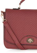 STYLE REPUBLIC - Top-handle Bag Dark Red