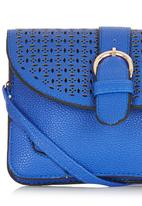 c(inch) - Cut-out Detail Mini Cross-body Cobalt