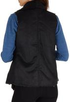 c(inch) - Faux Shearling Vest Black