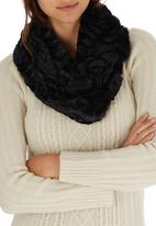 edit - Fancy Faux Fur Snood Black