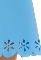 c(inch) - Laser-cut Mini Skirt Pale Blue Pale Blue