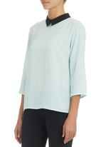 c(inch) - Blouse with back detail Pale Blue