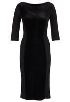 ERRE - Velvet Panel Dress Black
