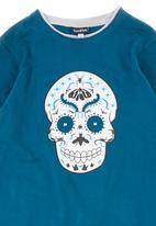 Sam & Seb - Skull-print T-shirt Green Mid Green
