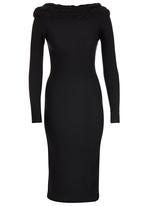 ERRE - Pencil Dress with Braid Trim Black