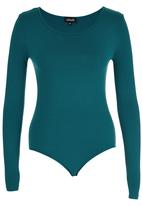 c(inch) - Long Sleeve Fitted Bodysuit Turquoise