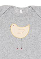 Nocturnal Affair - Melange Romper with Bird Mid Grey Mid Grey