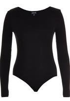 c(inch) - Long Sleeve Fitted Bodysuit Black