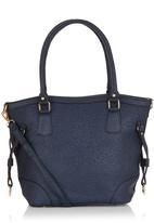 edit - Paisley Embossed Shopper Navy