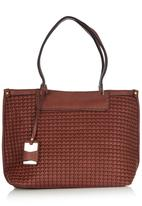 edit - Ruched Shopper Dark Brown