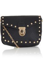 c(inch) - Studded Mini Cross-body Bag Black