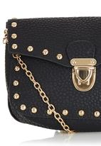 c(inch) - Studded Mini Cross-body Bag Black