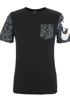 Nike - Nike T-shirt Chaos Cube Black Black and White