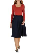 STYLE REPUBLIC - Midi Skirt Navy