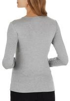edit - Long Sleeve Wrap T-shirt Grey Melange