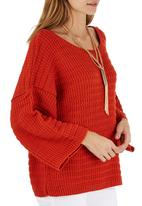 STYLE REPUBLIC - Oversized Chunky Knit Top Orange