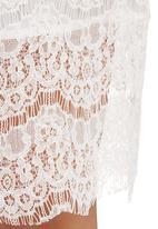 c(inch) - Lace Midi Skirt White
