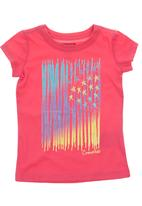Converse - Tshirt with stripes & stars print Mid Pink