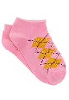 POP CANDY - Girls Argyle Socks Multi-colour