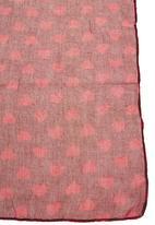 Pop Candy- Leisure Pro - Heart print scarf Dark Pink