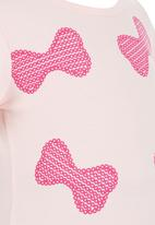 POP CANDY - Bow Print T-shirt Mid Pink