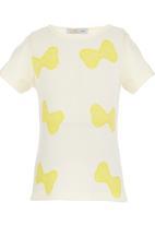 POP CANDY - Bow Print T-shirt Cream