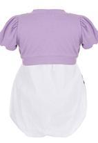 POP CANDY - Floral Dress & Bolero Set Mid Purple