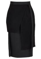 DAVID by David Tlale - Muso Layered Skirt Black