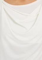edit - Cowl-neck Cami White