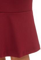 edit - Frill Hem Skirt Dark Red Dark Red