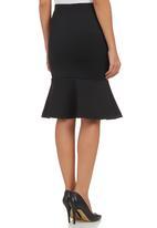 STYLE REPUBLIC - Fishtail Midi Skirt Black