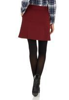 c(inch) - Zip Mini Skirt Dark Red